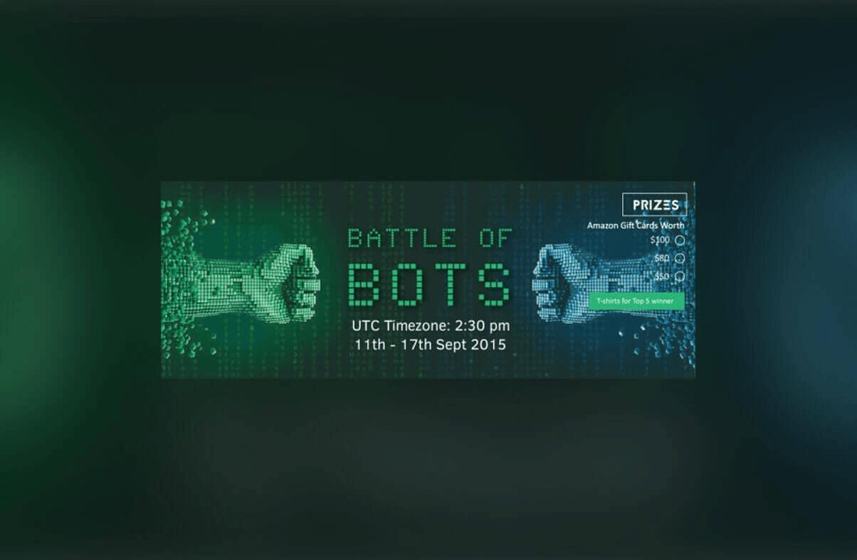 Battle of Bots - An artificial Intelligence contest