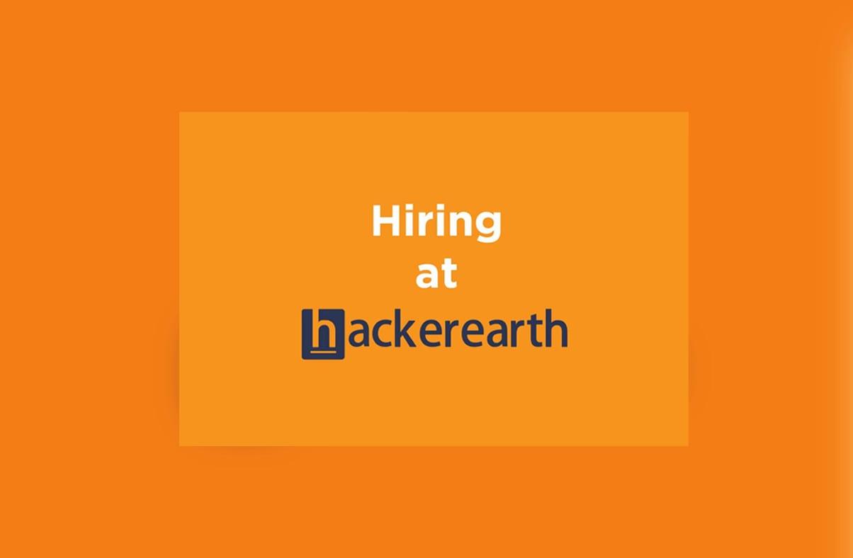 Hiring at HackerEarth- December 2015