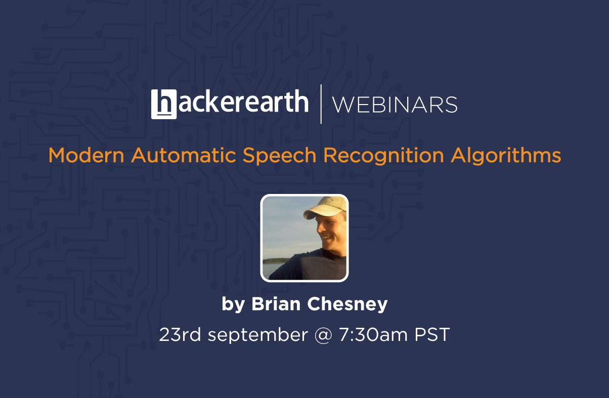 Webinar on Modern Automatic Speech Recognition Algorithms