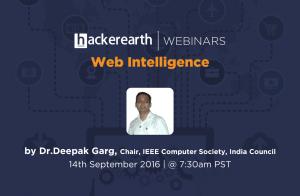 Webinar on Web Intelligence