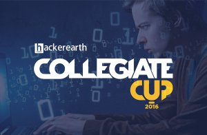 Hackerearth collegiate cup 2016