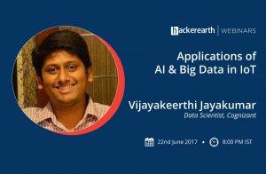 Webinar on Applications of AI & Big Data in IoT