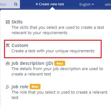 Create custom test