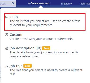 Create new test